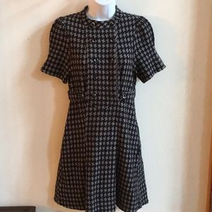 Marc Jacobs Houndstooth Plaid Career Dress size M